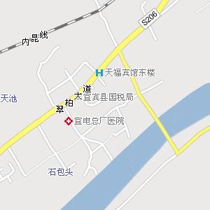 电子地图,宜宾城区街道地图
