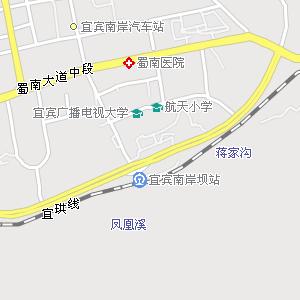 电子地图,宜宾市区街道地图