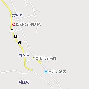 酉阳县城电子地图,酉阳城地图