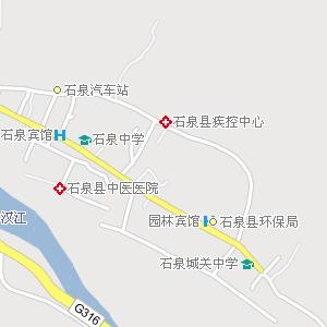 石泉县城电子地图,石泉城地图