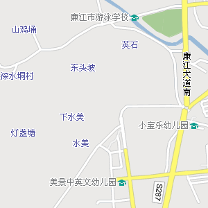廉江市区电子地图,廉江市区地