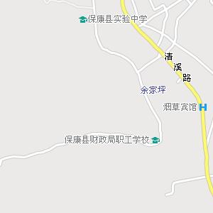 保康县城电子地图,保康城地图