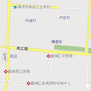 漯河市区电子地图,漯河市区地图
