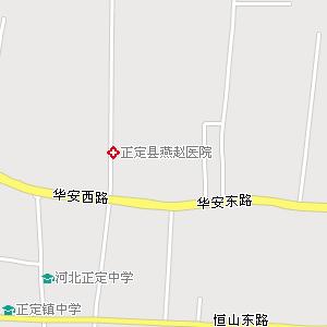 正定县城地图