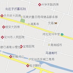 定州市区地图_