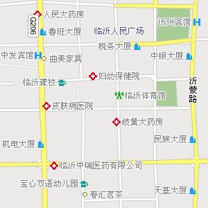 临沂市区电子地图,临沂市区街道地图;