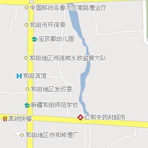 新疆电子地图 和田地区地图