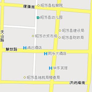 新疆伊犁州昭苏县地图