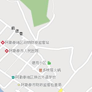 新疆电子地图 阿勒泰地区地图