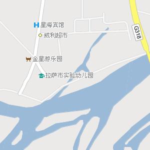 拉萨市城关区八廓街道地图