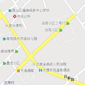 昆明市西山区福海街道地图