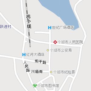 云南省红河州个旧市地图,个旧