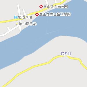 宜宾屏山地图,四川屏山电子地