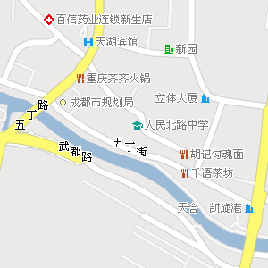 成都市金牛区人民北路街道地图