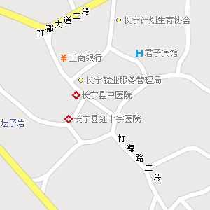 四川省宜宾市长宁县地图
