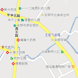 安顺市西秀区华西街道地图