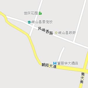 陕西岐山电子地图,岐山旅游地