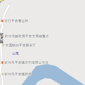 钦州市钦北区平吉镇地图