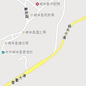 湖北省恩施州咸丰县地图