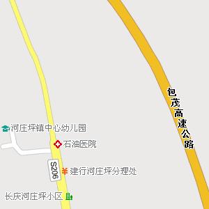 延安市宝塔区河庄坪镇地图