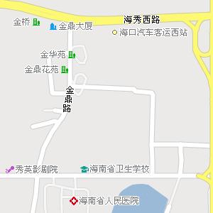 海南省海口市秀英区地图