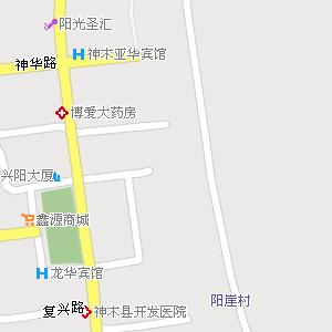 陕西榆林神木地图,陕西神木电