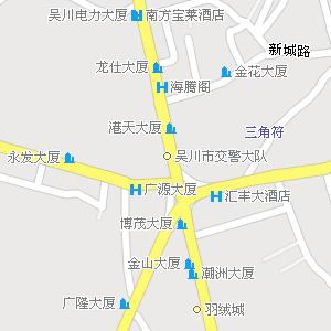 广东湛江吴川地图,广东吴川电子地图