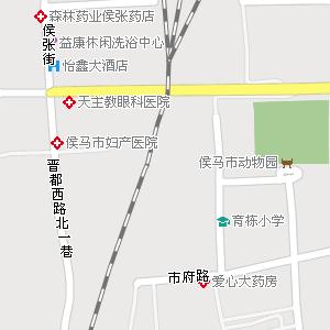 山西临汾侯马 地图, 山西侯马 电子地图