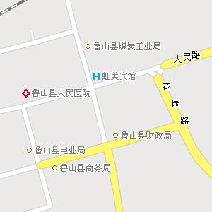 河南平顶山鲁山地图,河南鲁山