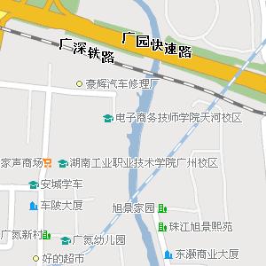 广东省广州市天河区地图