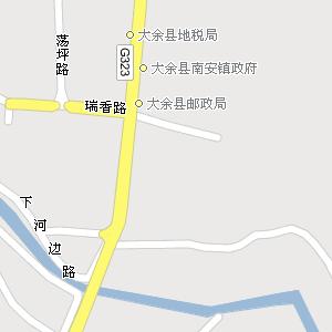 江西赣州大余地图,江西大余电子地图