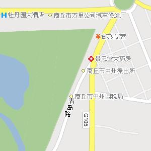 河南省电子地图 商丘市地图图片