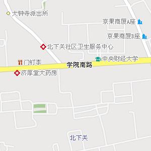 海淀区北下关街道地图