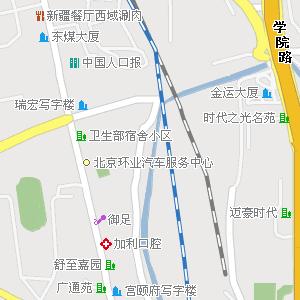 北京市电子地图 海淀区地图