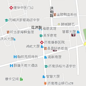 济南市历城区洪家楼街道地图图片
