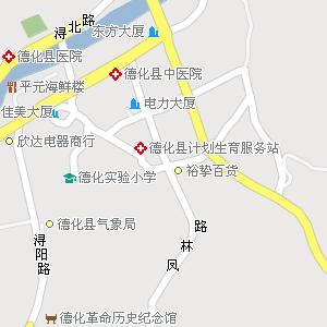 福建省泉州市德化县公路电子地图