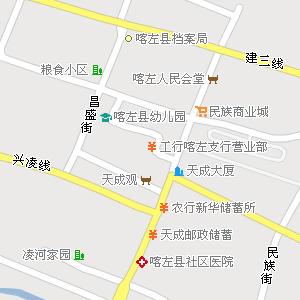 辽宁朝阳喀左地图