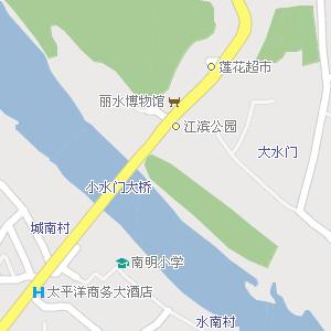 浙江丽水地图,浙江丽水电子地