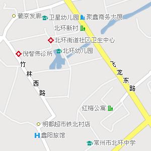 常州市天宁区红梅街道地图