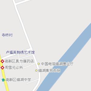 苏州市虎丘区镇湖街道地图