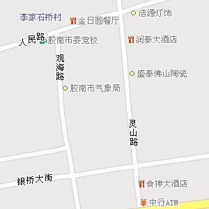 山东省青岛市胶南市地图