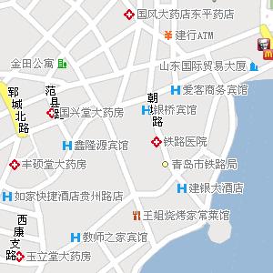 青岛市市南区台西街道地图