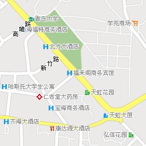 青岛市市南区金门路街道地图
