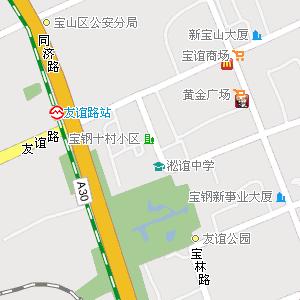上海市宝山区公路电子地图