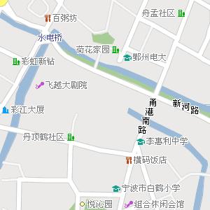 宁波市海曙区江厦街道地图