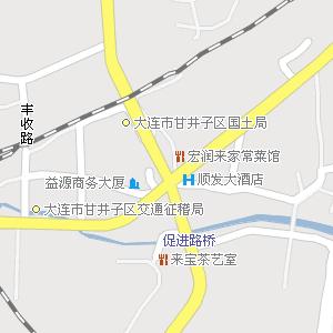 大连市甘井子区周水子街道地图