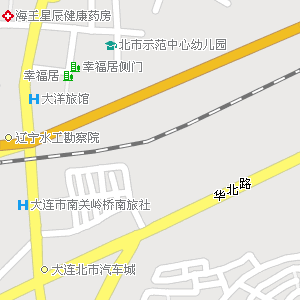 大连市甘井子区南关岭街道地图