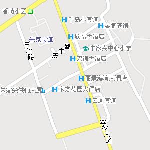 舟山市普陀区朱家尖街道地图