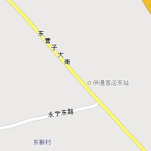 四平市伊通县伊通镇地图