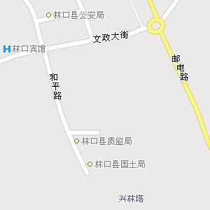 黑龙江牡丹江林口地图,黑龙江